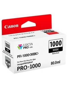 Tinta Canon PFI-1000MBK Negro Mate 80 ml.