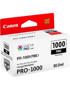 Tinta Canon PFI-1000PBK Negro Foto 80 ml.