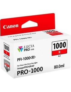 Tinta Canon PFI-1000R Rojo 80 ml.