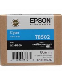 Tinta Epson T8502 Cían - 80 ml.