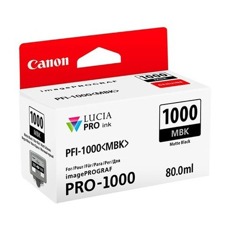 Tinta Canon PFI-1000MBK Negro Mate 80...