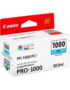 Tinta Canon PFI-1000PC Cían Foto 80 ml.