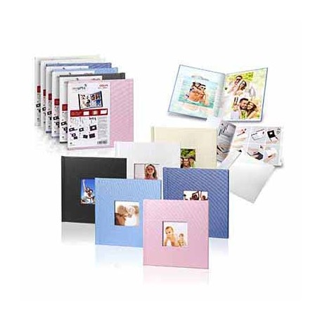 PHOTO BOOK COVER MITSUBISHI 20X30 BABY PINK (ROSA) CON VENTANA