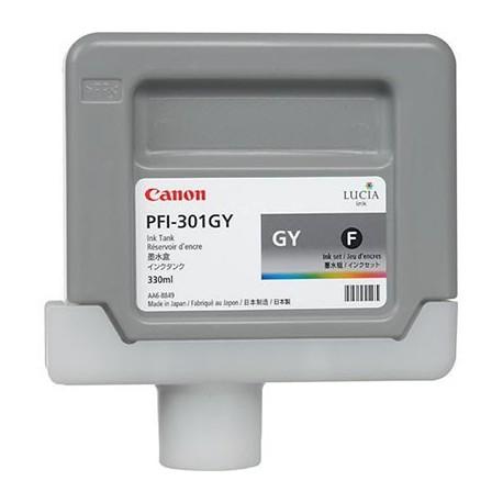 Tinta Canon PFI-301GY Gris 330 ml.