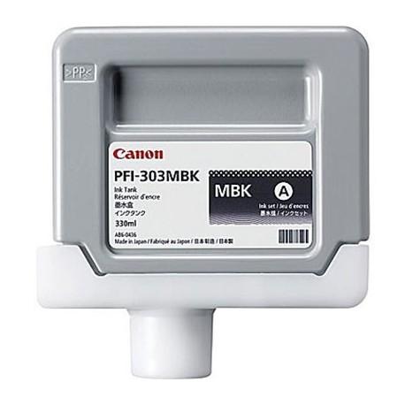 Tinta Canon PFI-303MBK Negro Mate 330 ml.
