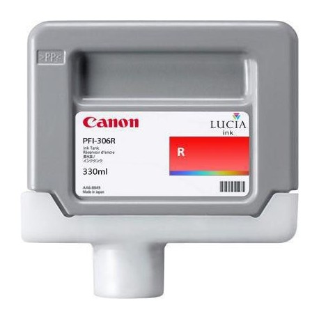 Tinta Canon PFI-306R Rojo 330 ml.