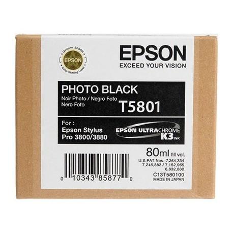 Tinta Epson T580100 Negro Foto - 80 ml.