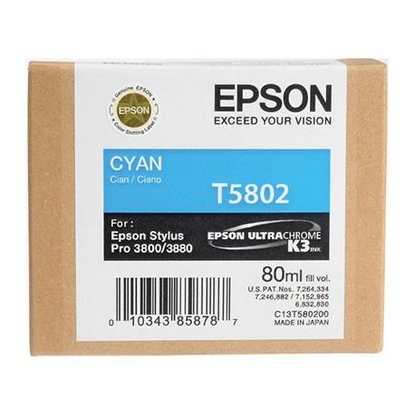 Tinta Epson T580200 Cían - 80 ml.