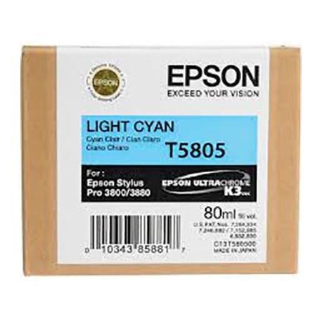 Tinta Epson T580500 Cían claro - 80 ml.