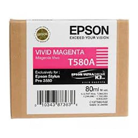 Tinta Epson T580A00 Magenta Vivo - 80 ml.
