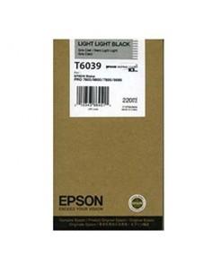 Tinta Epson T603900 Gris claro 220 ml.