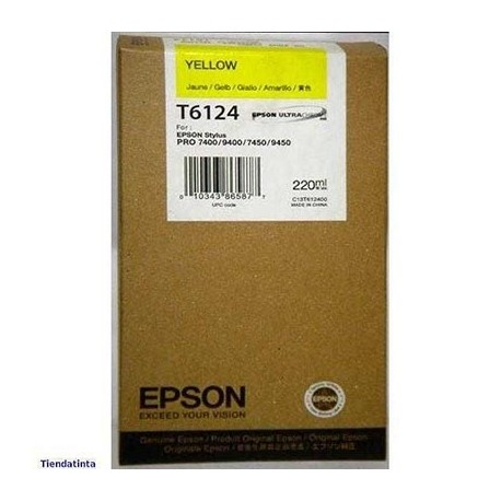 Tinta Epson T613400 Amarillo 110 ml.