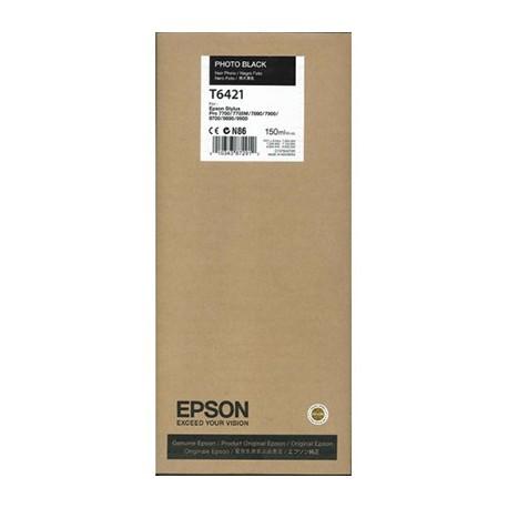 Tinta Epson T6421 Negro Foto 150 ml.