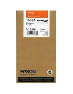 Tinta Epson T653A00 Naranja 200 ml.