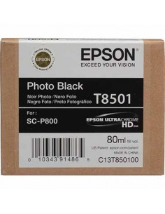 Tinta Epson T8501 Negro Foto - 80 ml.