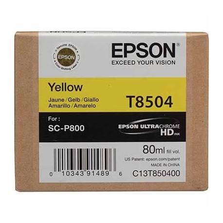 Tinta Epson T8504 Amarillo - 80 ml.