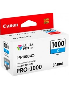 Tinta Canon PFI-1000C Cían 80 ml.